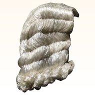Original Rare 1920's White Raffia Flapper Wig