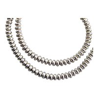 Native American 925 Sterling Silver Bead Necklace