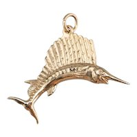 14 Karat Gold Marlin Fish Charm