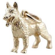 Vintage K9 German Shepherd Dog Charm