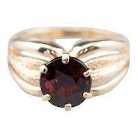 Vintage Garnet Solitaire Ring
