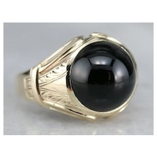 Antique Men's Black Onyx Ring