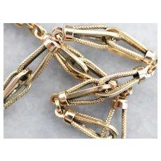 Victorian Era Yellow 18 Karat Gold Link Bracelet