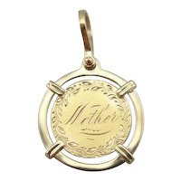 Love Token Pendant for Mother