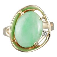 Modernist Jade Cocktail Ring