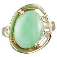Modernist Jade Cocktail Ring