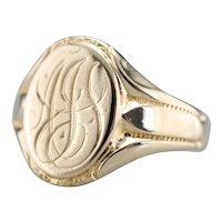 """Antique """"AJL"""" Monogrammed Signet Ring"""