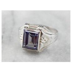 Vintage Synthetic Alexandrite Men's Ring