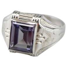 Vintage Synthetic Alexandrite Men's Ring