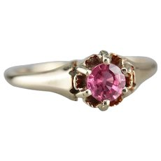 Lovely Upcycled Pink Sapphire Solitaire Ring