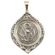 Stunning Pendant Fob with Ornate, Detailed Monogram