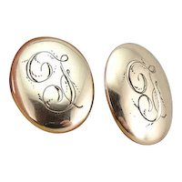 Antique French Script Monogramed F Cufflinks