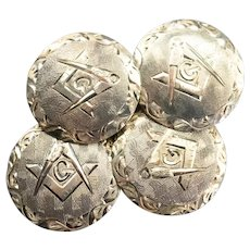 Etched Vintage Masonic Cufflinks