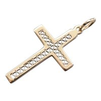 Unisex Vintage Filigree Cross