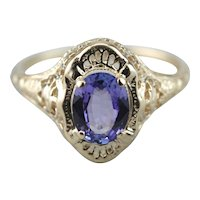 Sparkling Tanzanite Cocktail Ring