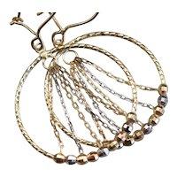 Beaded and Chain Drop Earrings