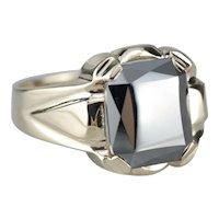 Men's Retro Era Hematite Ring