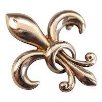 Antique Fleur De Lis Brooch or Pendant