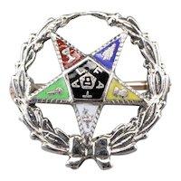 Order of the Eastern Star Enamel Lapel Pin