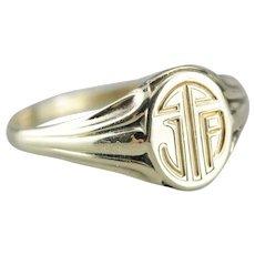 Antique Monogramed Signet Ring