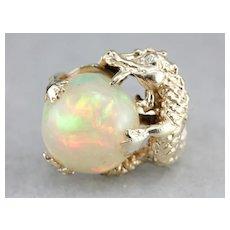 Vintage Opal Dragon Statement Ring