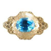 Lovely Enhancer Pendant with Beautiful Blue Topaz Center
