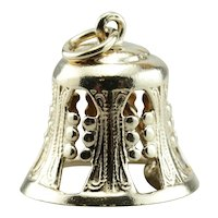 The Bells A Ringing, Vintage Filigree Bell Pendant