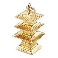Japanese Pagoda Charm or Pendant
