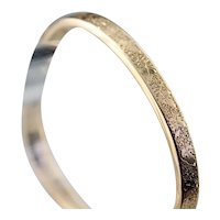 Antique Etched 10 Karat Gold Bangle Bracelet