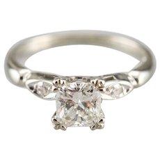 Upcycled 1954 Princess Cut Diamond Ring