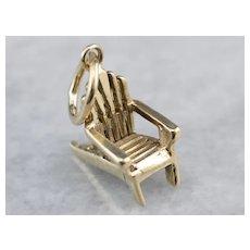 14K Adirondack Chair Charm