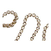 Chunky Double Link Statement Chain Necklace
