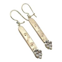 Fine Diamond Upcycled Drop Earrings