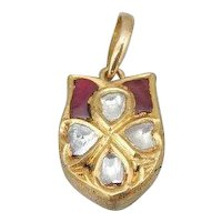 Maharaja Style Pendant With Rose Cut Diamonds