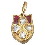 Maharaja Style Pendant With Rose Cut Diamonds