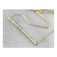 Cultured Seed Pearl Conversion Necklace