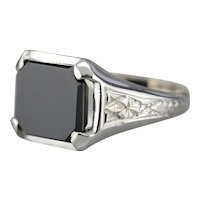 Art Deco Black Onyx Ring