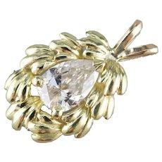 Botanical Pear Cut Diamond Pendant
