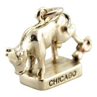 October 8, 1871, Charm Representing the Great Fire of Chicago, Mrs. O'Leary's Cow