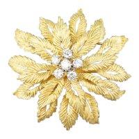 Vintage Flower Diamond Cluster Pin