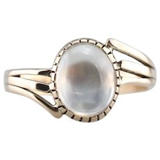 Pretty Moonstone Bypass Ring