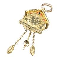 Bavarian Cuckoo Clock Gold Charm