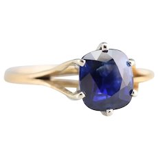 Upcycled Ceylon Sapphire Solitaire Ring