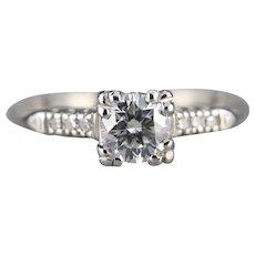 Retro Era Round Brilliant Diamond Ring