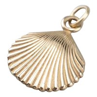 Unisex Scallop Shell Charm or Pendant