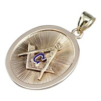 Men's Vintage Duel Sided Masonic Pendant