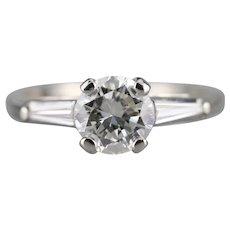 Retro 950 Platinum and Diamond Engagement Ring