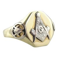 Unique Vintage Masonic Signet Ring