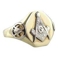 Unique Vintage Masonic Signet Ring