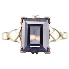 Lovely Vintage Synthetic Alexandrite Ring